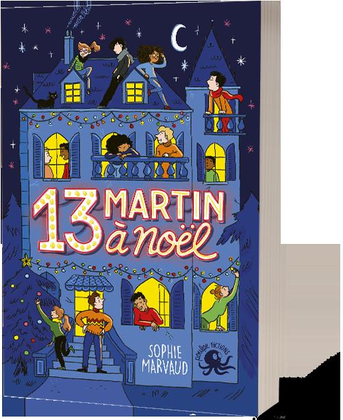 Nous y voyons une grande maison dans le noir illuminé par les fenêtres et des guirlandes avec plein de personnes  dont nos trois protagonistes principaux qui sont sur le toit.